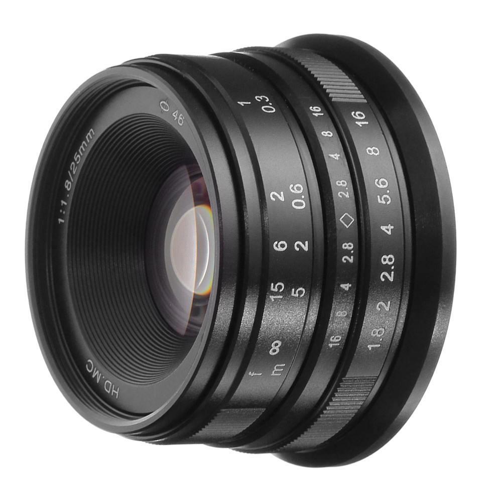 Objectif principal 25mm F/1.8 mise au point manuelle MF pour Canon EOS M monture de EF-M EOS M, M2, M3, M5, M6, M10, M100