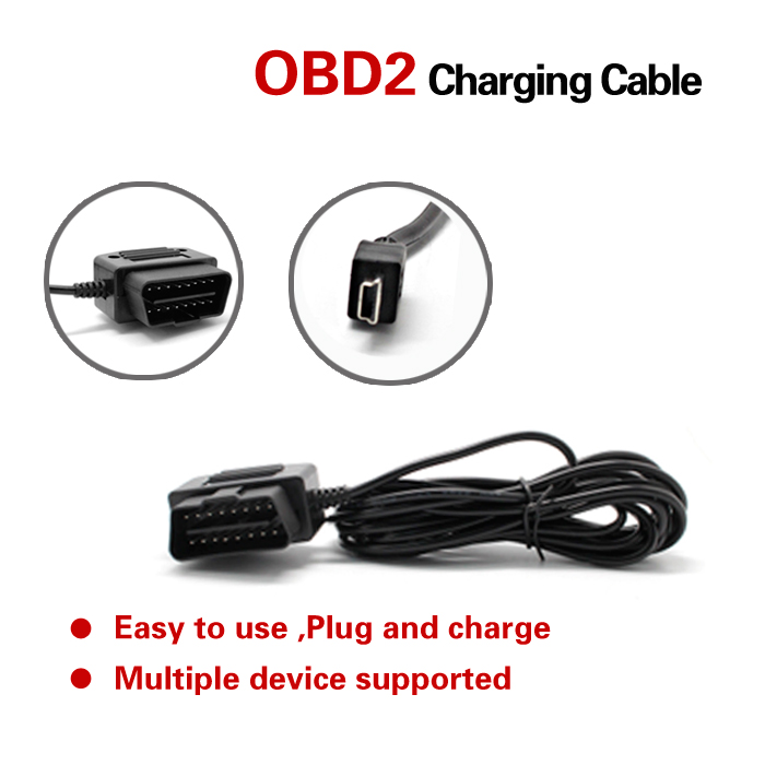 new obd2 to usb micro usb or mini usbconnector obd 2 16pin obdii car charging charger convert