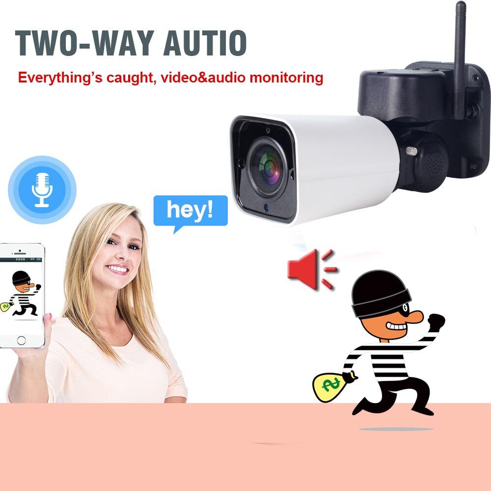 1080P WIFI Camera Outdoor PTZ IP Camera Pan Tilt 4X Zoom Security Bullet Camera 2-WAY Audio 2MP IR60m Home Video Surveilance P2P