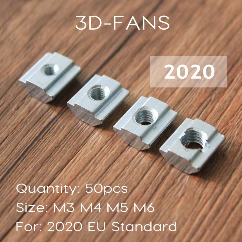 T Sliding Nut Block Square Nuts M3 M4 M5 M6 For 2020 Aluminum Profile Slot Zinc Coated Plate Aluminum For For EU Standard