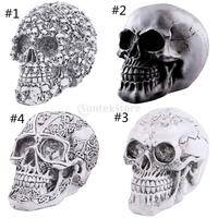Homosapiens Skull Statue Figurine Human Skeleton Head Medical Skeleton