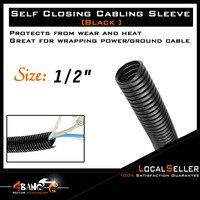 "80ft 1/2"" Durable Split Wire Loom Polyethylene Tubing Marine Conduit|  -"