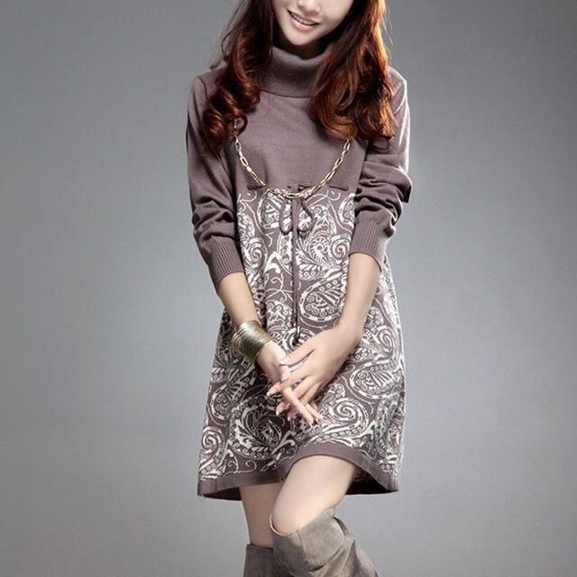 Suéteres para mujer Otoño invierno largo Suéter blusa de