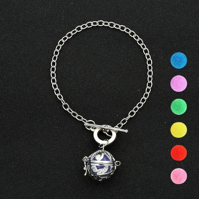 Diezi Vintage Bijoux Hollow Out Ball Charm Bracelet Aromatherapy Locket Essential Oil Diffuser DIY Bracelet & Bangles For Women