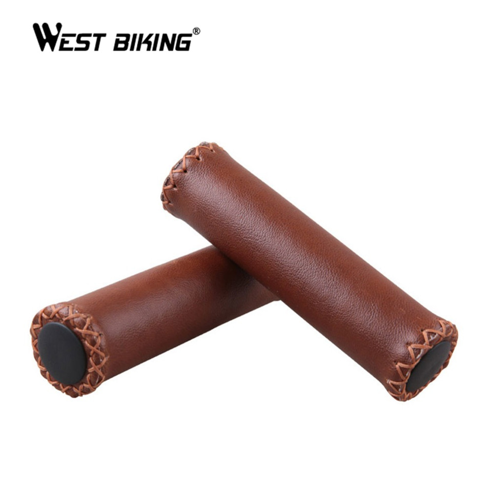 Cycling Grips Nonslip Vintage Retro Artificial Leather
