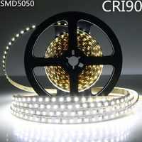 DC12V SM5050 haute CRI 90 + lumière LED bande 10 MM blanc PCB Flex ruban bande 30 LED s/M Non-étanche haute indice de rendu des couleurs