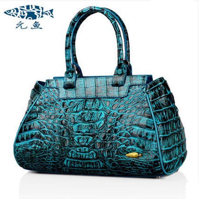 yuanyu Real Thai crocodile font b women b font handbag new handbag single shoulder inclined font