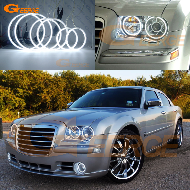 For Chrysler 300C 2004 2005 2006 2007 2008 2010 Excellent 6 pcs CCFL Angel Eyes kit Ultrabright illumination Halo Ring купить недорого в Москве