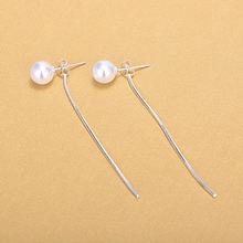 Женские серьги гвоздики из серебра 925 пробы с искусственным