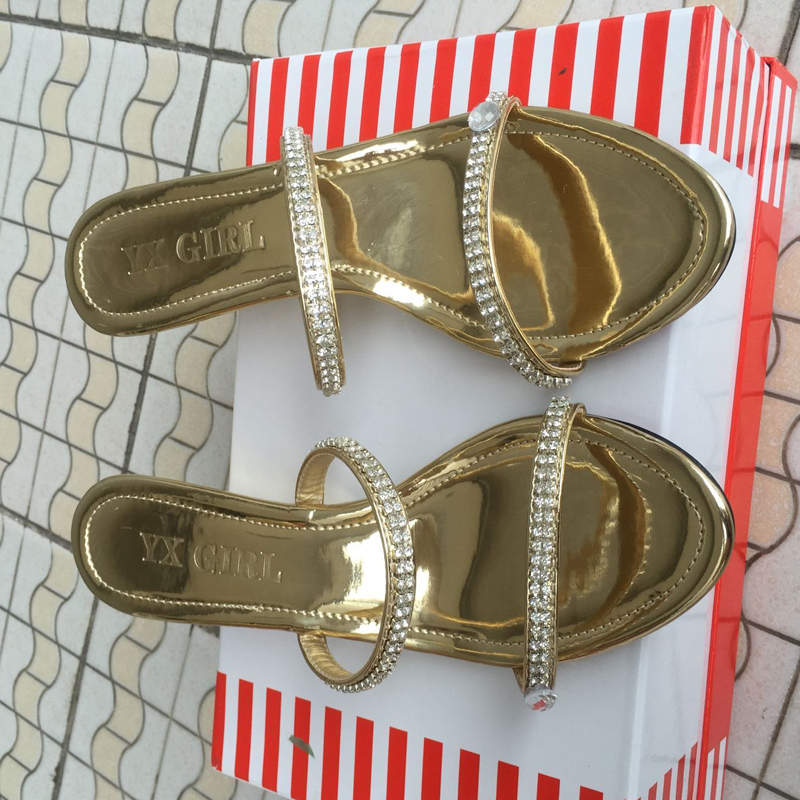 Plus Size 46 Sexy Women Rhinestone Thong Sandals Woman Crystal Two Straps Gladiator Sandal Ladies Summer Wedges Shoes To Ensure Smooth Transmission