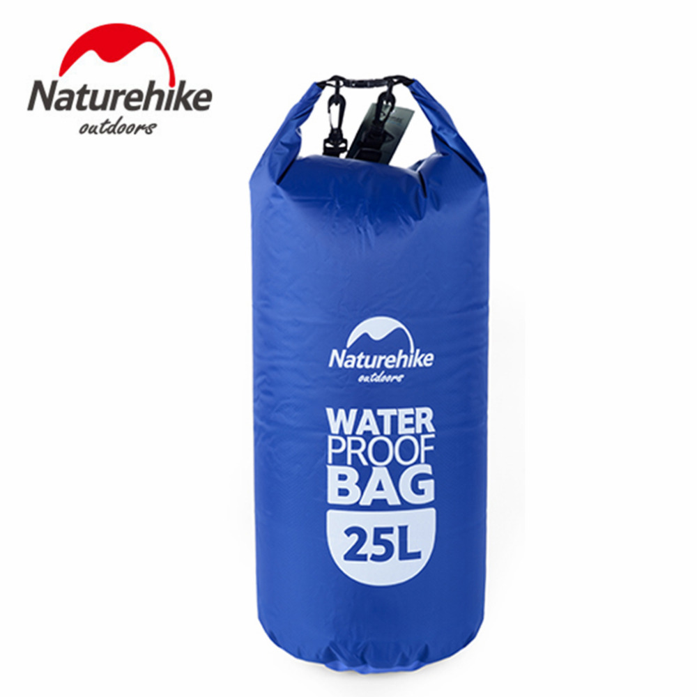 Naturehike 25L Muitifunctional Durable Ultralight Outdoor Travel Rafting Camping Hiking Swimming Waterproof Bag Dry Bag