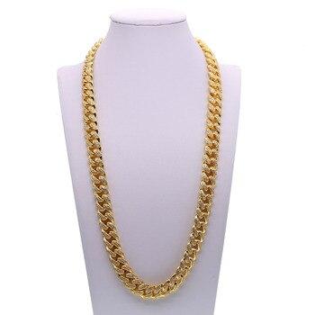 "top quality drop shipping men boy jewelry 20"" 24"" 28"" hip hop bling cz cuban link chain miami chain men necklace"