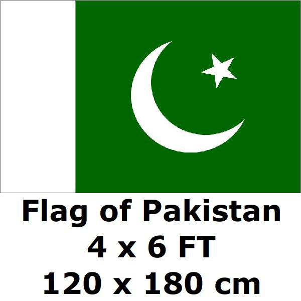 Pakistan flag 120 x 180 cm 100d polyester large big pakistani flags and banners national flag