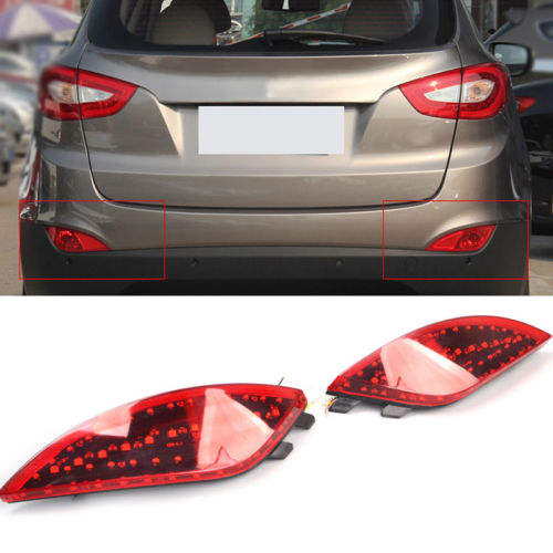 For Hyundai Tucson / ix35 2010 2011 2012 2013 2014 2PCS Rear Tail Fog lights lamp Assembly Car Parts accessories Red Turn signal