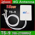 Nova 18dBi 4G Reforço de Sinal Amplificador 3 M Cabo de Antena Externa TS9 Connector