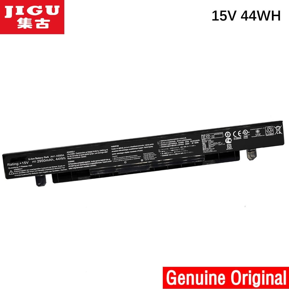 JIGU 100% New Genuine Original A41-X550A Battery For ASUS A41-X550 X550D X550C X550 X450C X550V A550 Laptop 15v 2950Mah
