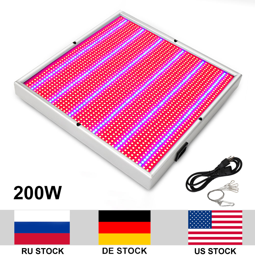 200W Growing Lamp AC85 265V 2835SMD LED Grow Light Red Blue For Indoor Plants Growing Flowering Whole Period 300 watt led grow light red blue good for medicinal plants growth and flowering