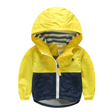 Spring Autumn Jacket For Boys Kids Coat Toddler Hooded Windbreaker Children Oute
