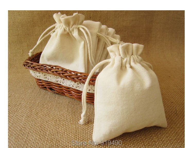 Aliexpress.com : Buy (100 pcs/lot) Cotton Canvas Drawstring Bag ...