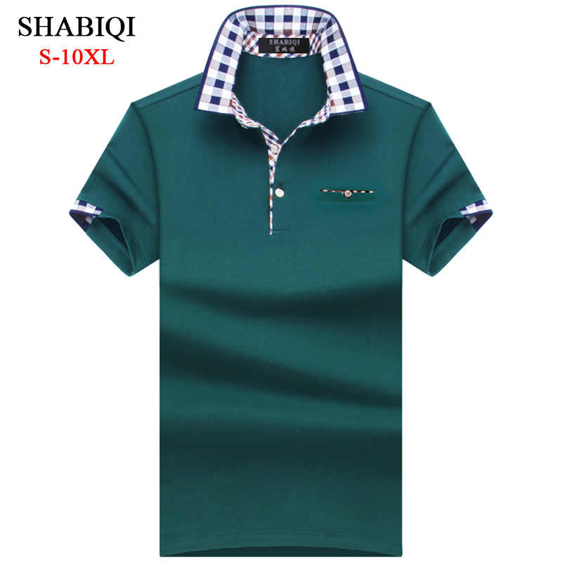 SHABIQI Classic Merk Mannen shirt Mannen Polo Shirt Mannen Korte Mouw Polo Shirt Toevallige Polo Plus Size 6XL 7XL 8XL 9XL 10XL