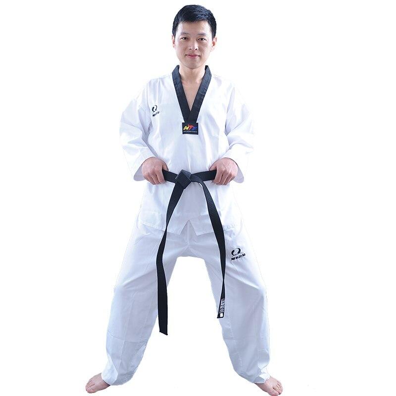 Fast Deliver Cheap Good Quality Child Adult Extera Taekwondo Uniform Poom V-neck Karate Dobok Wtf Breathable Fitness Sport Clothes Suit Tkd Sports & Entertainment