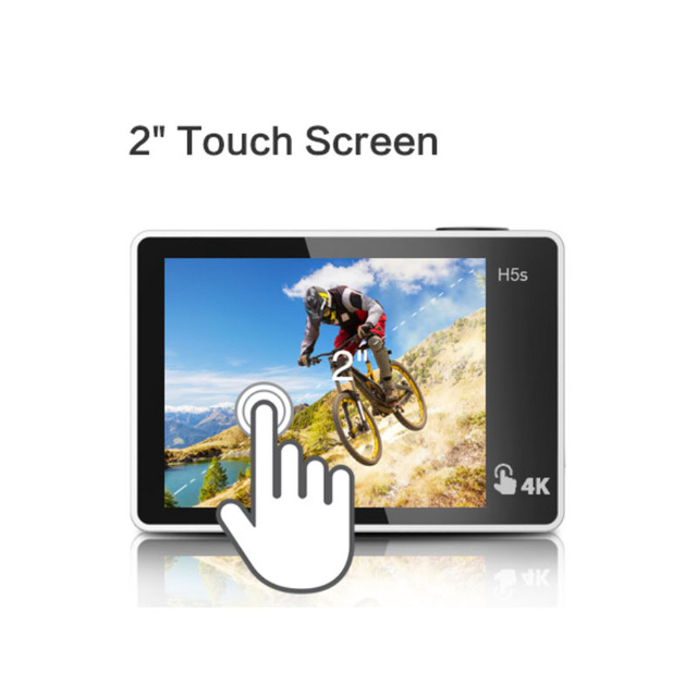 EKEN H5S Plus Ultra HD Action Camera Touch Screen Ambarella A12 EIS 4k/30fps 720p/200fps 30M waterproof go Helmet pro sport cam 1