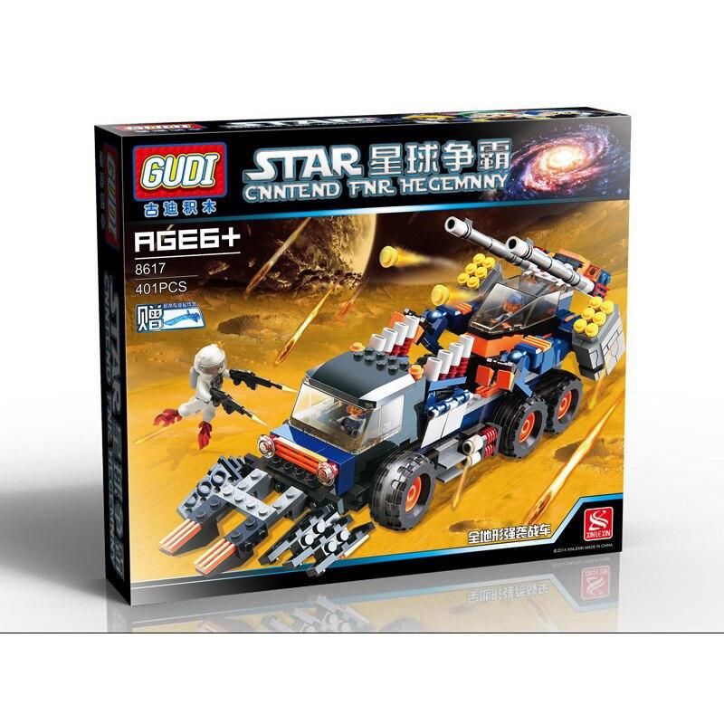 GUDI Star Wars Strike chariot Alien Space invasion Building Blocks Sets Bricks Model Kids Toys For Children Compatible Legoings