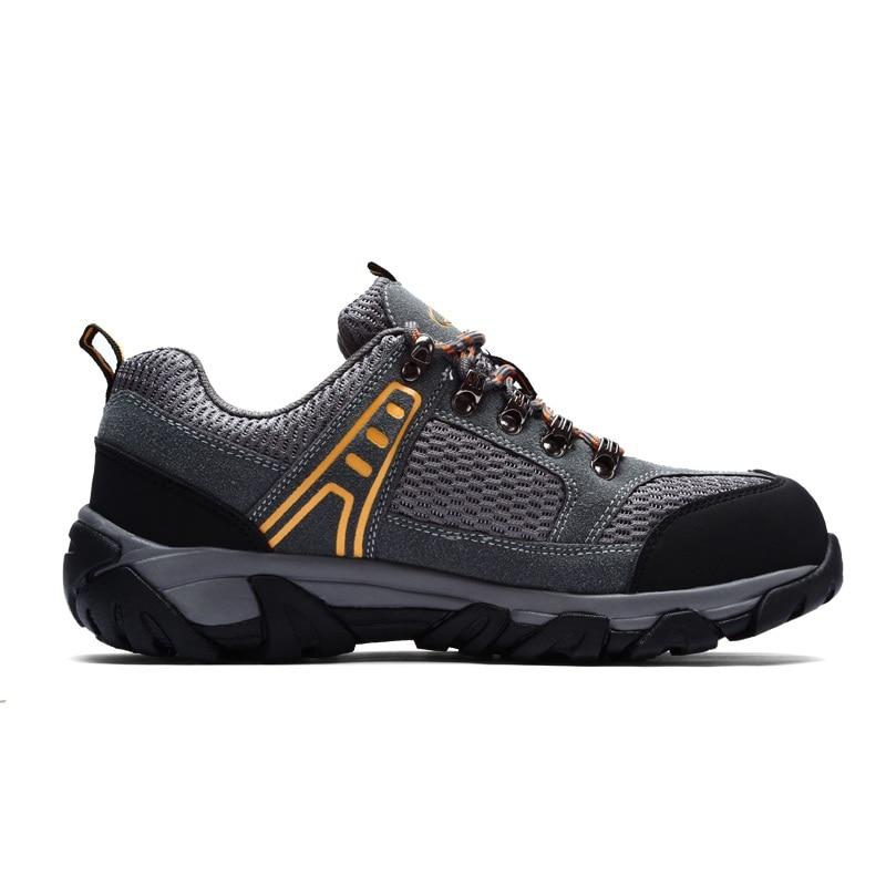 MODYF męskie buty ze stali Toe buty robocze BHP na co dzień oddychające do biegania na świeżym powietrzu odporne na przebicie buty wygodne przemysłowe buty w Obuwie robocze i ochronne od Buty na  Grupa 3