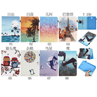 Ultra Slim Magnet Smart Sleep Print Stand PU Leather Cover Case For Samsung Galaxy Tab A