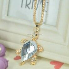 D бусина Черепаха ожерелье с свитером ювелирные изделия кристалл