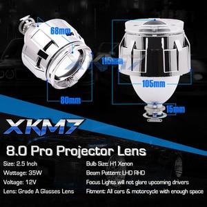 Headlight Lenses Bixenon Lens 2.5 Angel Devil Eyes HID Projector For H4 H7 Car Lights Accessories Retrofit DIY Use H1 Xenon Lamp