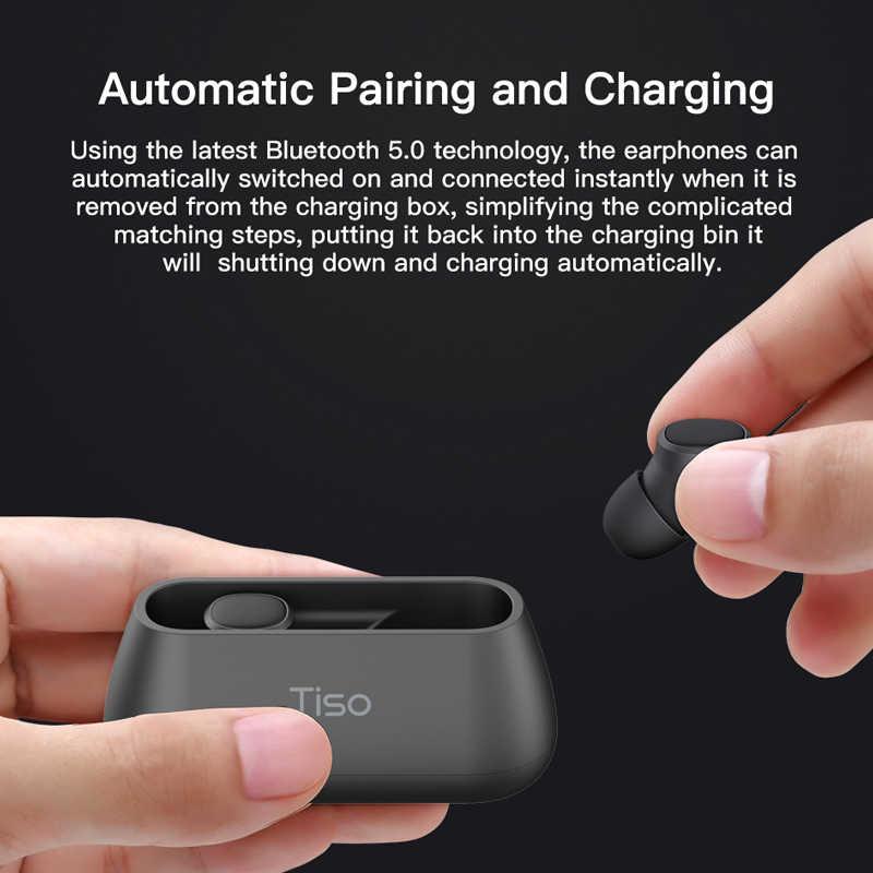 Тисо i4 Bluetooth 5,0 наушники-вкладыши TWS true wireless stereo 3D наушники спортивные IPX5 Водонепроницаемая гарнитура с двойной микрофон