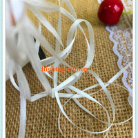 3.5mm*300m per roll 100% pure silk Genuine undyed white silk grosgrain ribbon for embroidery and handcraft project free shipping