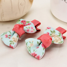 300pcs/lot Boutique Newest Girls Hair Bow Flower Grosgrain Ribbon Hairbows Floar Hairbow