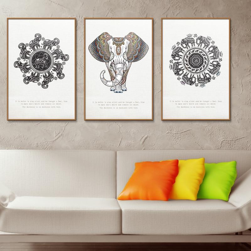 For Office Living Room Home Decor Wall Art Print Elephant