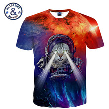 Short Sleeve Universe Space Cat