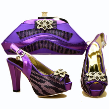 4.7 inches sandal with matching clutches bag shoes