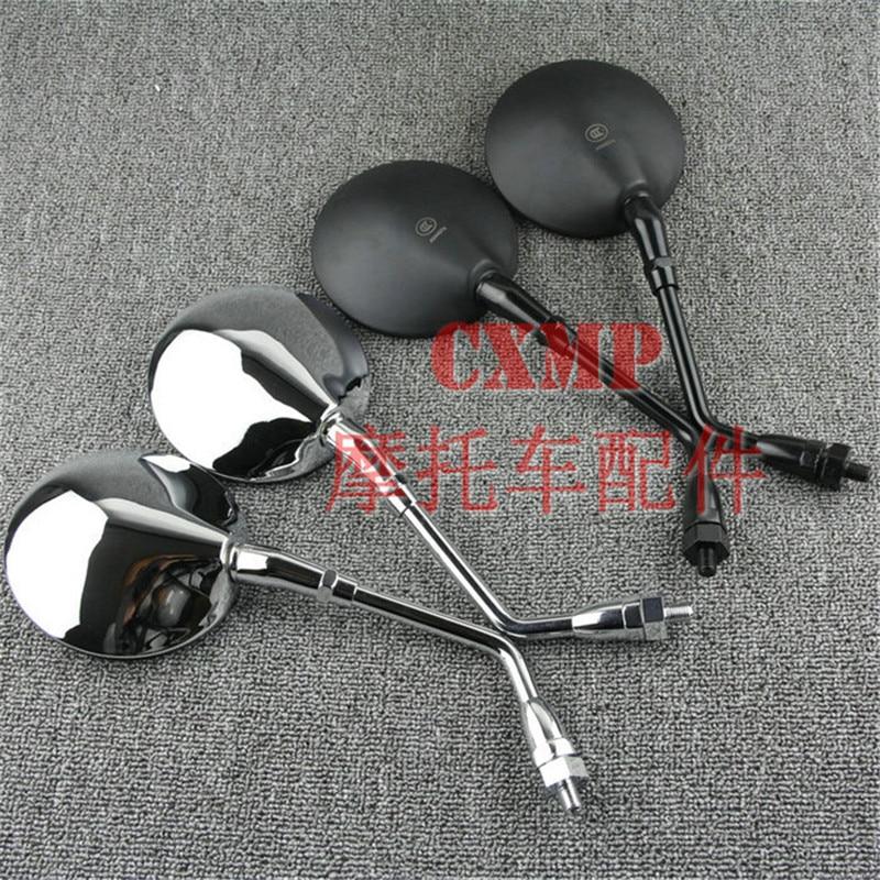 8mm 10mm Motorbike Mirrors Round Motorcycle Side Mirror Retro Motorbike Backup Mirror Universal Moto parts for Honda CB400SS