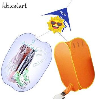 Kbxstart portátil De viaje Plegable De Ropa eléctrica secador De Ropa al...