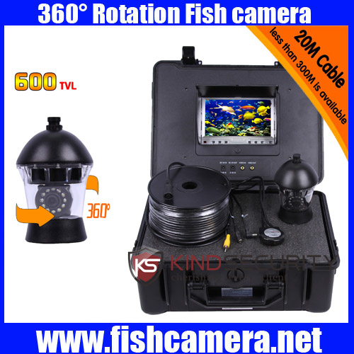 20m 360 Degree View Remote Control SONY CCD Underwater video Camera with 7 Inch LCD moniot