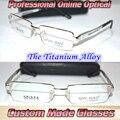 Por encargo gafas de Lectura Mg al aleación de titanio semi-borde de plata + 0.5 + 0.75 + 1.25 + 1.75 + 2.25 + 2.75 + 3.25 + 3.75 + 4.25 a + 6.0