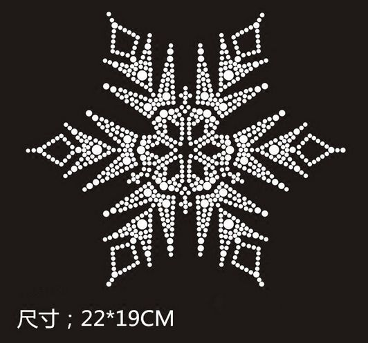 5065528638 US $8.0 |2pc/lot Big Chirstmas Snowflake flower designs iron on transfer  hot fix rhinestone applique strass iron for shirt-in Rhinestones from Home  & ...