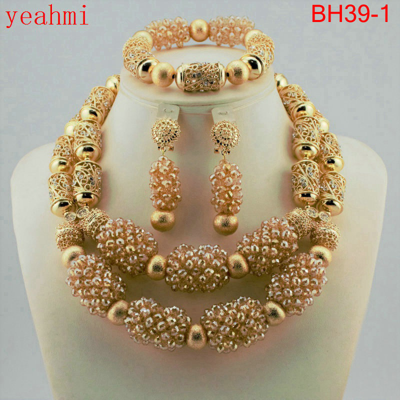 Amazing african beads jewelry set chain women Nigerian wedding crystal multi layer necklace/ earring Indian jewelry sets BH39-1Amazing african beads jewelry set chain women Nigerian wedding crystal multi layer necklace/ earring Indian jewelry sets BH39-1