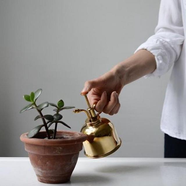 Vintage Brass Plant Flower Watering Pot Spray Bottle Garden Mister Sprayer Hairdressing Watering Pot Practical Garden Tool