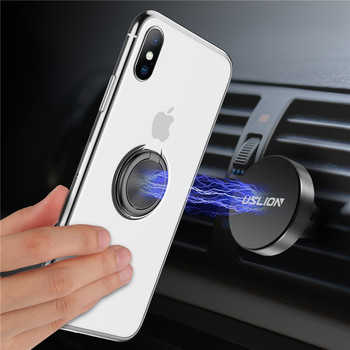 Funda TPU Transparente con Soporte Anillo para iPhone