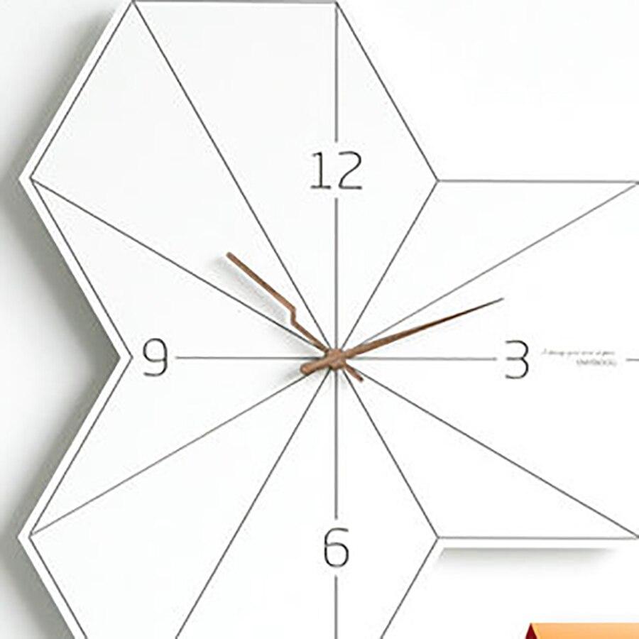 Modern Design Retro Wall Clock Digital Vintage Clock Mechanism Creative Wall Watches Kitchen Silent Clock Home Decor 50Q137 in Wall Clocks from Home Garden