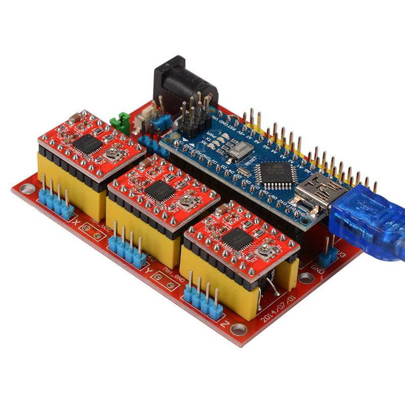 Image 4 - CNC Shield V4 Expansion Board Nano 3.0 Stepper A4988 Driver for Arduino 3D Printer TE732-in 3D Printer Parts & Accessories from Computer & Office