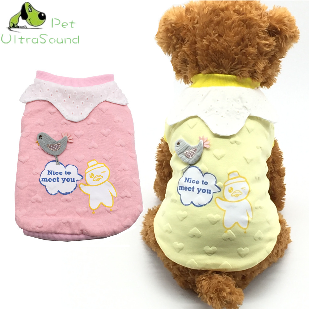 ULTRASOUND PET Winter Warm Pet Dog Clothes Lovely heart-shaped birds Hooded Thick Cotton Cat Puppy Dogs Coat Jackets S-XXL ...
