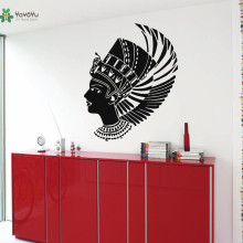 YOYOYU Wall Decal Vinyl Removeable Sticker Nefertiti Wings Beauty Salon Art Mursticker Home Decor YO319