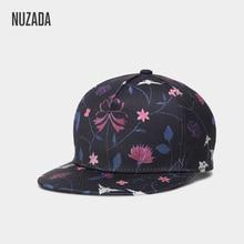 NUZADA для мужчин женщин пара 3D печати хип хоп кепки модные дизайн цветы полиэстер хлопок шапки нейтральных тонов сезон: весна-лето